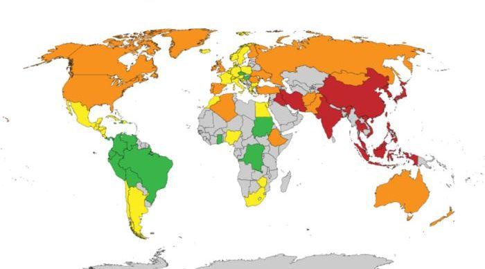 Ученые установили средний размер мужского достоинства среди жителей разных стран (2 картинки)