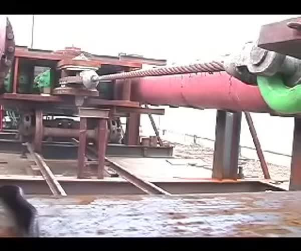Испытание стального троса на прочность