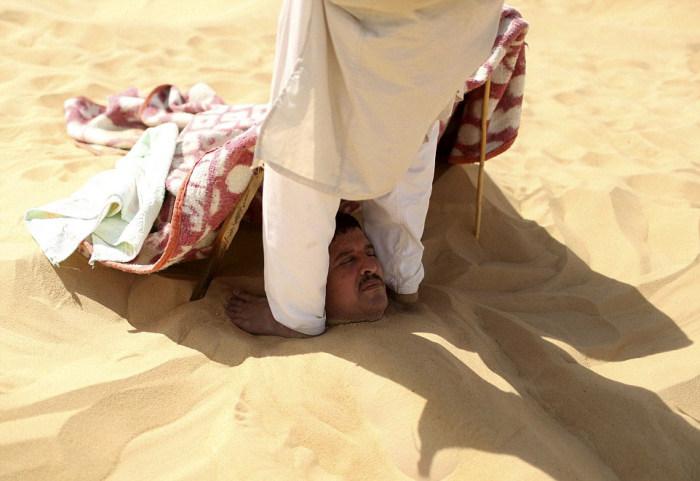 Песочная ванна – панацея по-египетски (16 фото)