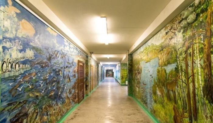 Школьный сторож разрисовал школу к началу учебного года (17 фото)
