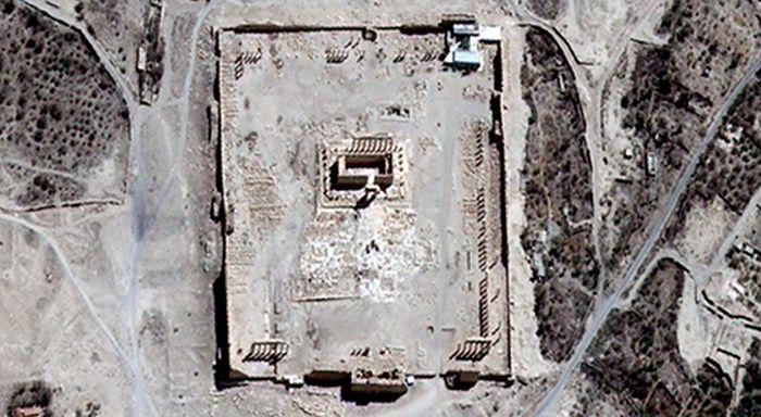 В ООН подтвердили уничтожение древнего храма в Пальмире (2 фото)