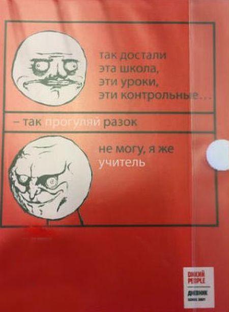 Интернет-мемы добрались до школьных дневников (4 фото)