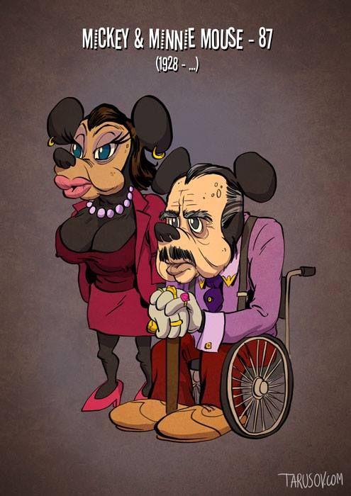 Герои диснеевских мультфильмов в старости (10 картинок)