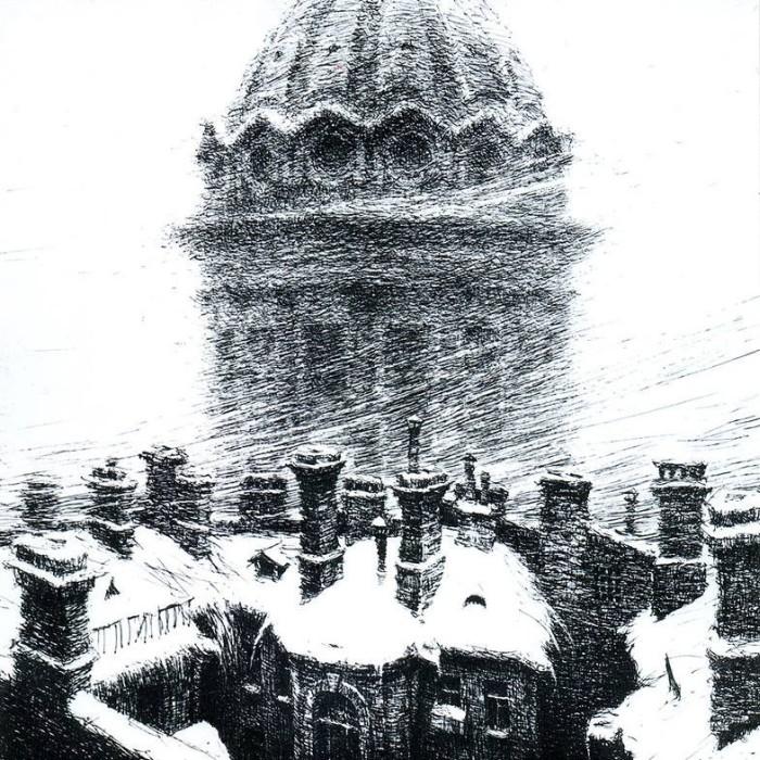 Картины Евгения Ухналева, автора нового герба России (18 фото)