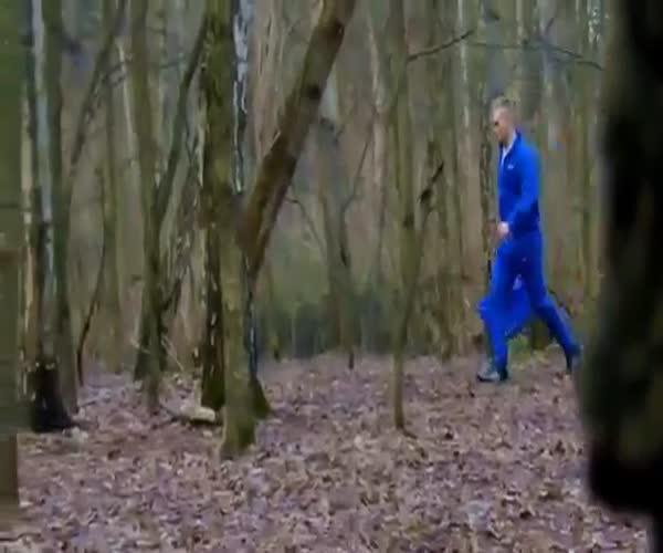 Страшный пранк в лесу