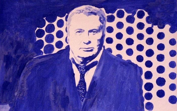 Питерская художница Ирина Романовская нарисовала грудью портреты Путина и Медведева (6 фото)