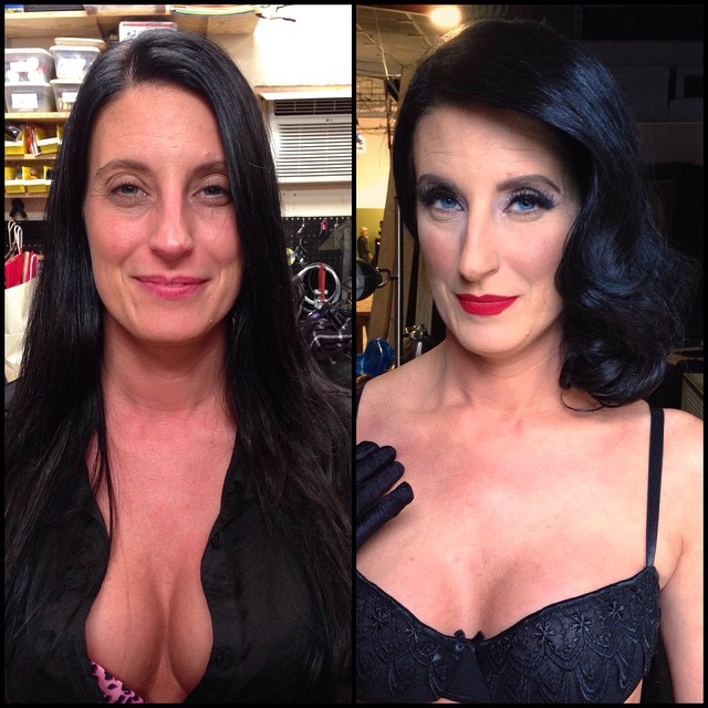 Модели журнала Playboy и прочие девушки до и после макияжа (55 фото)