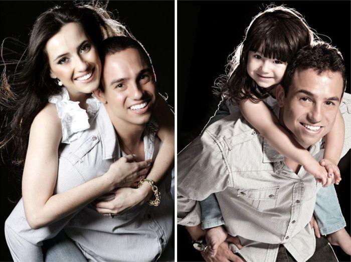 Отец и 3-летняя дочь воссоздали фотографии в память о погибшей маме (13 фото)