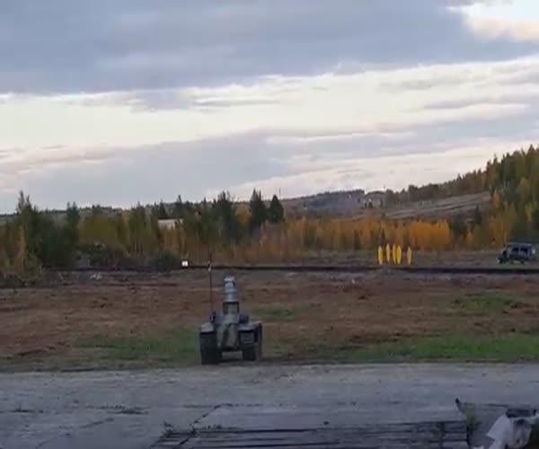 Испытание боевых роботов