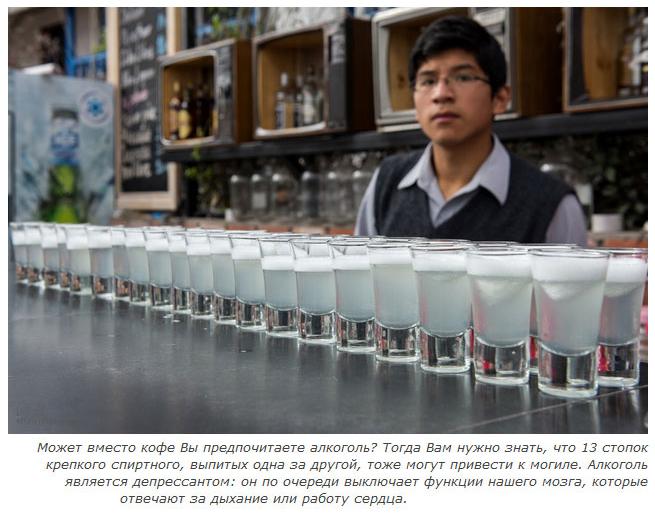 Смертельная доза различных веществ для нашего организма (9 фото)