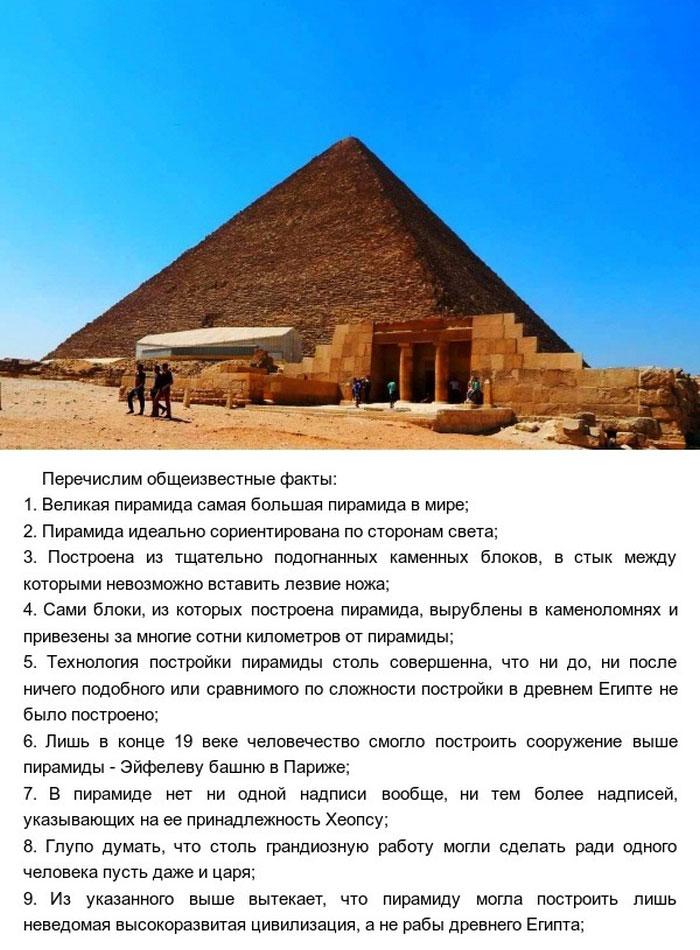 Мифы и факты о Великой египетской пирамиде