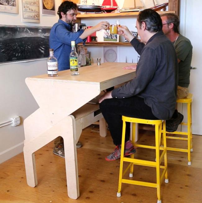 Стол-бар, за которым можно не только работать, но и отдыхать (6 фото)