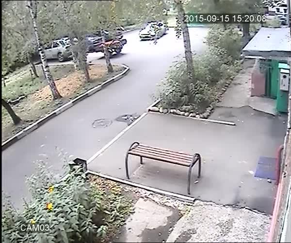 Ради двух мешков картошки водитель пожертвовал лобовым стеклом