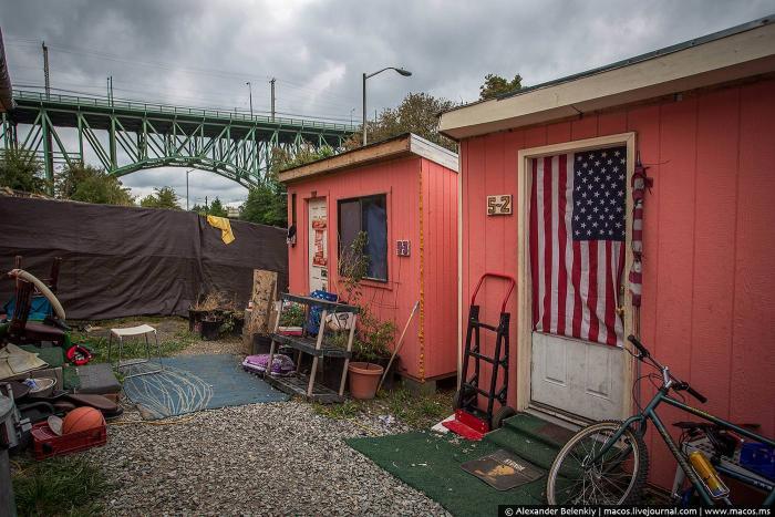 Коммуна бездомных в Сиэтле (24 фото)