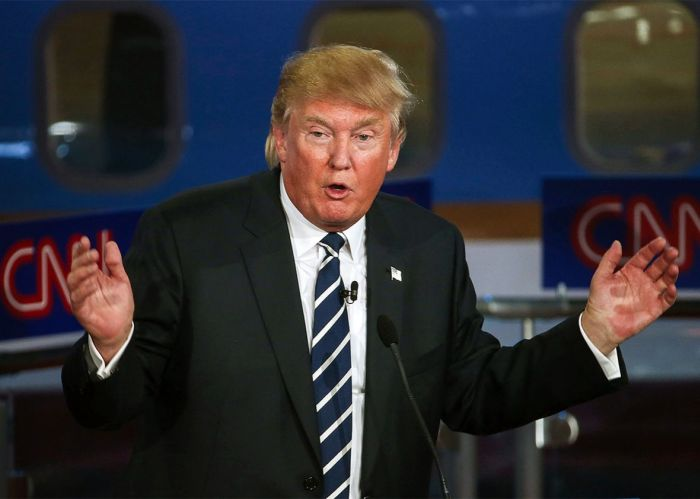 Четыре эмоции за одну секунду на лице Дональда Трампа (гифка)