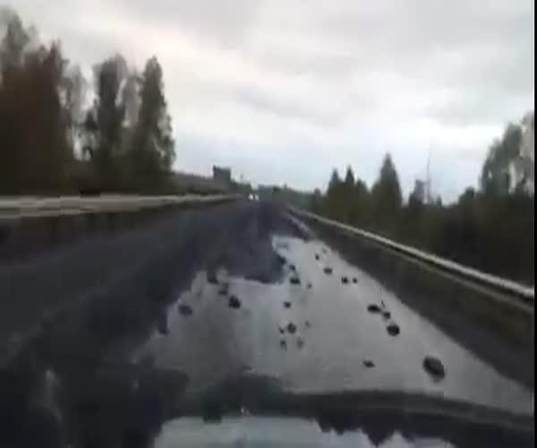 На трассе в Алтайском крае появились пупырышки