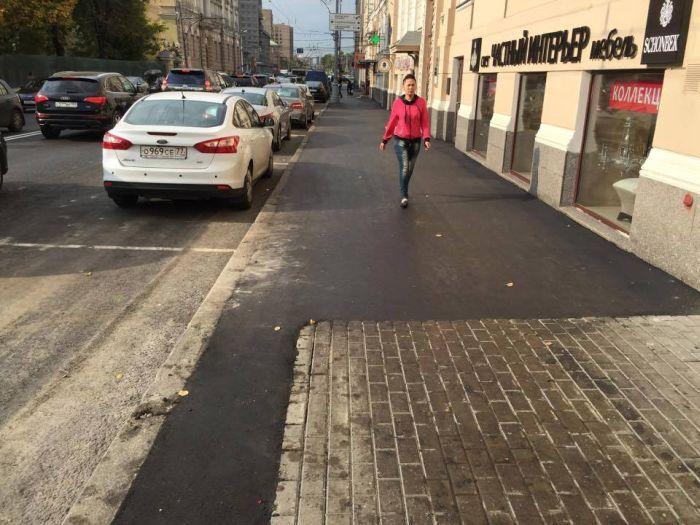 Абсурдный тротуарный ремонт в центре Москвы (4 фото)