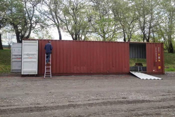 Дом из контейнеров (18 фото)