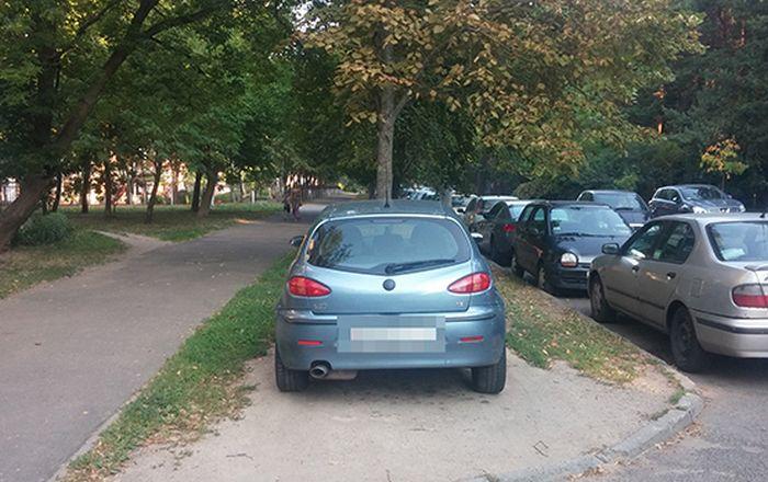 Необъявленная война из-за парковки на газоне (3 фото)