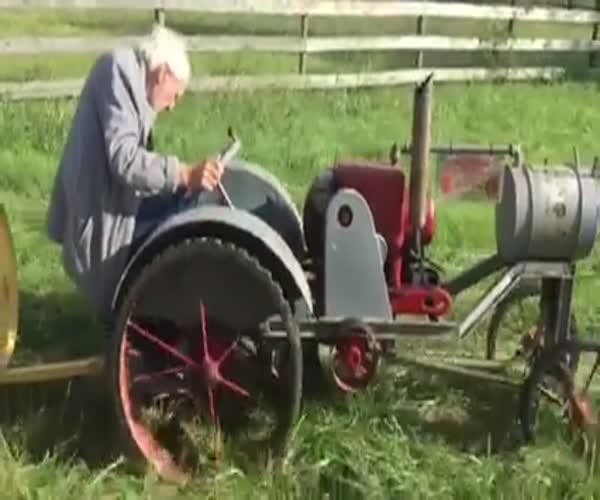 Самодельный паровозик для внуков
