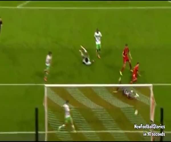 Нападающий «Баварии» Роберт Левандовски забил 5 голов за 9 минут