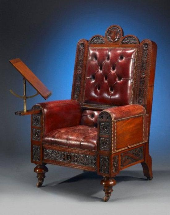 Сюрпризное кресло для истинных джентльменов (5 фото)