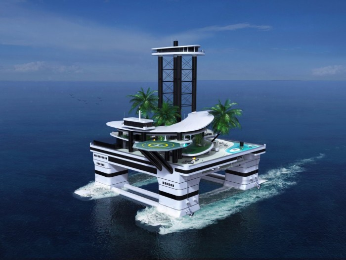 Миллиардерам предложили искусственный остров-пентхаус вместо яхт (10 фото)