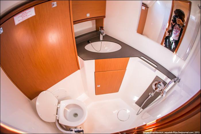 Странный туалет на яхте (8 фото)