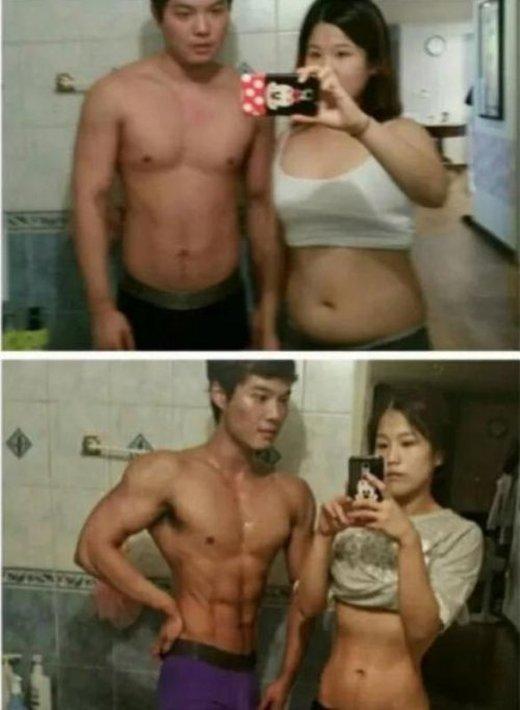 Нереальная трансформация молодой корейской пары (5 фото)