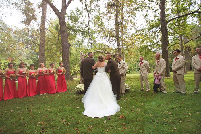 Трогательный случай на свадьбе в Кливленде (5 фото)