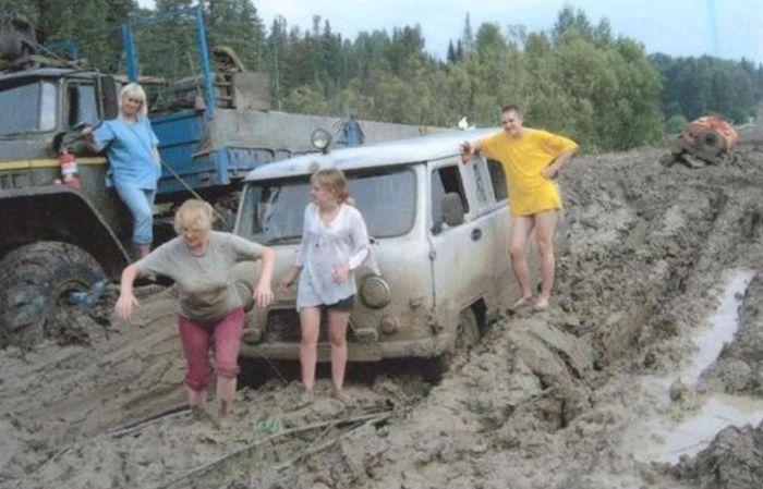 Фото, которые возможно было сделать только в России. Часть 13 (42 фото)