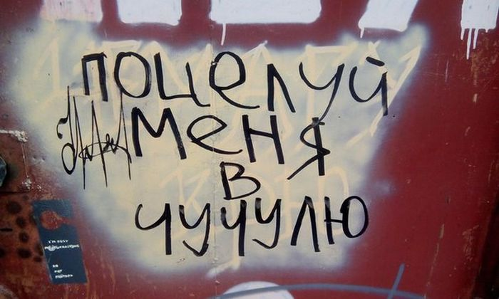 Неожиданные надписи на наших улицах и в подъездах (25 фото)