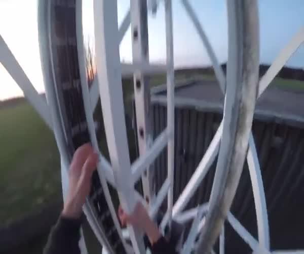 Покорение 363-метровой радиобашни