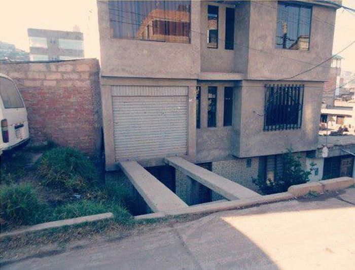 Экстремальный аттракцион в одном из частных домов (2 фото)