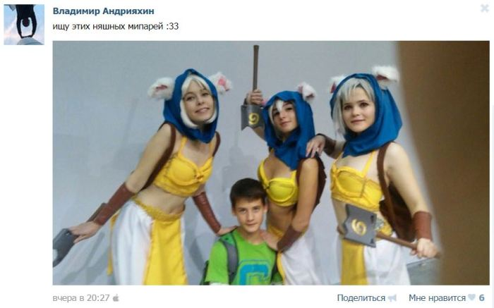 Посетители выставки «Игромир» начали поиски понравившихся им девушек-моделей (35 фото)