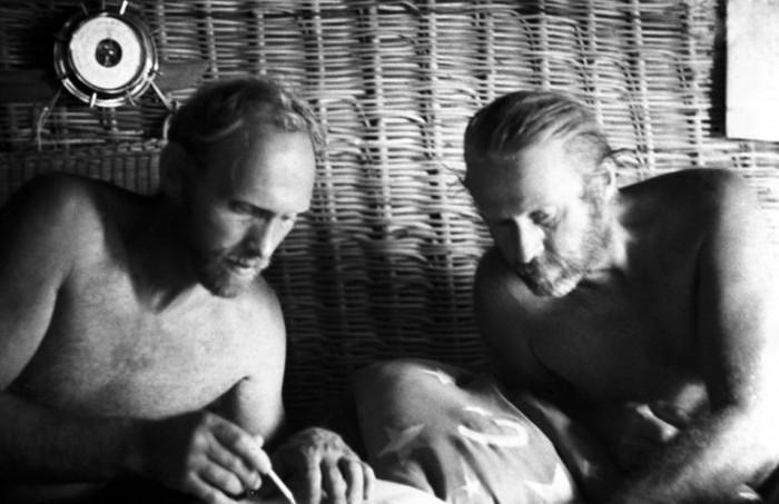Путешествие Юрия Сенкевича и Тура Хейердална на папирусной лодке «Ра» (11 фото)