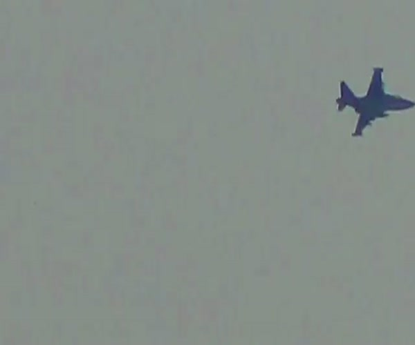 Авиаудар российских самолетов глазами боевиков