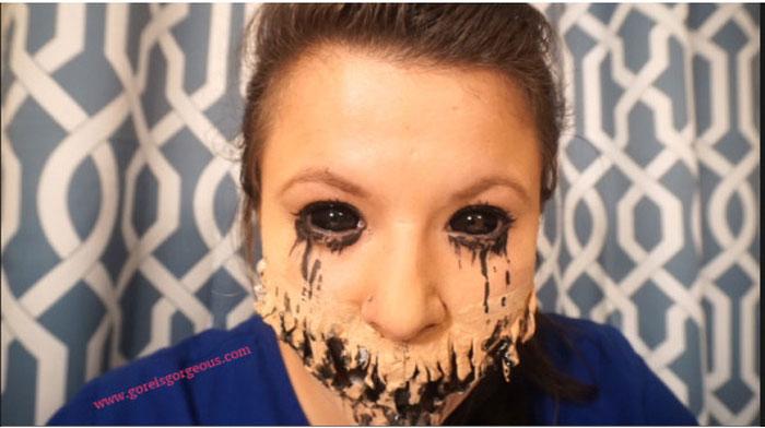 Нанесение грима на Хэллоуин (20 фото)