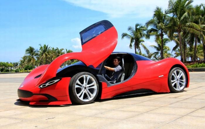 Молодой китаец построил самодельный суперкар (14 фото)