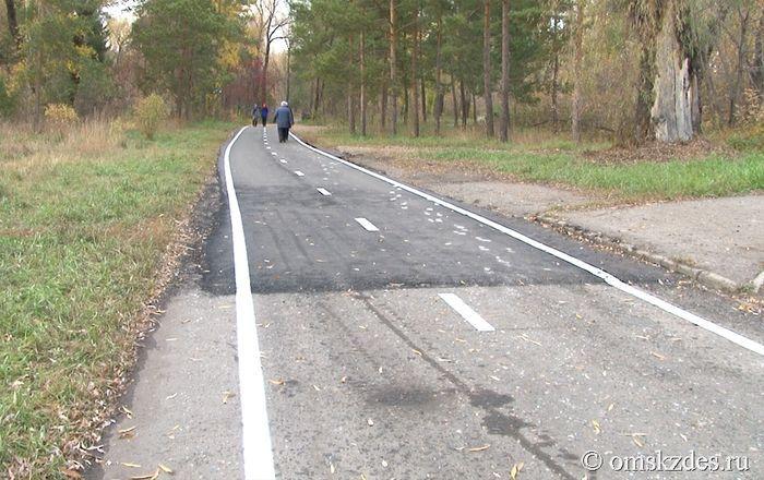 В Омске построили велосипедную дорожку за 10 миллионов рублей (11 фото)