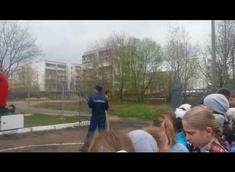Демонстрация возможностей пожарной техники