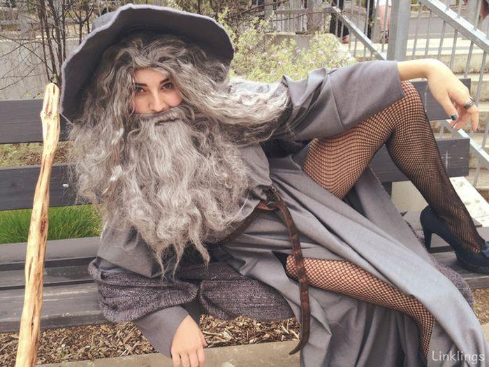 Австралийская школьница пришла на костюмированный вечер в костюме  «сексуального Гэндальфа» (4 фото)
