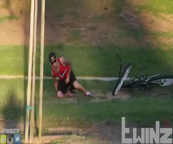 Жесткий розыгрыш угонщиков велосипеда