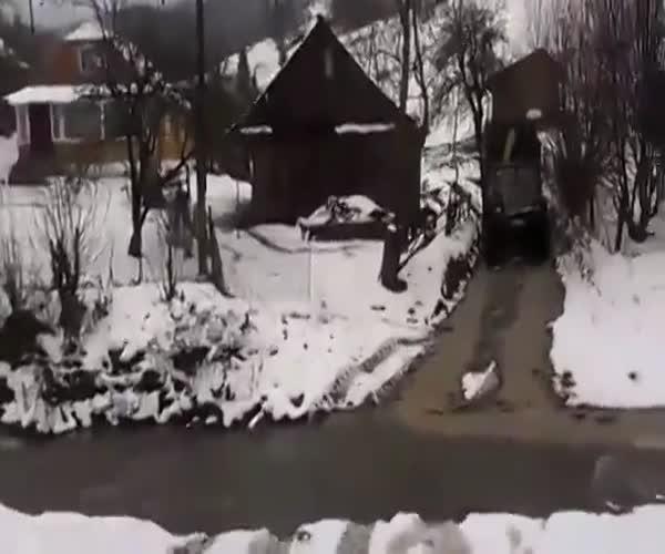 Самоуверенный водитель на «Урале»