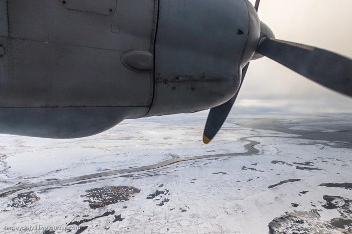 Восхитительный вид на север России из иллюминатора АН-24 (31 фото)