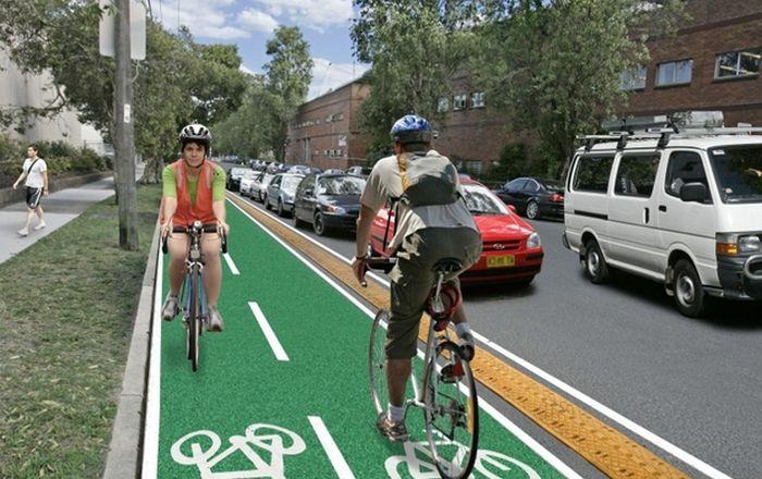 В Москве находится самая короткая велосипедная дорожка в мире (фото)