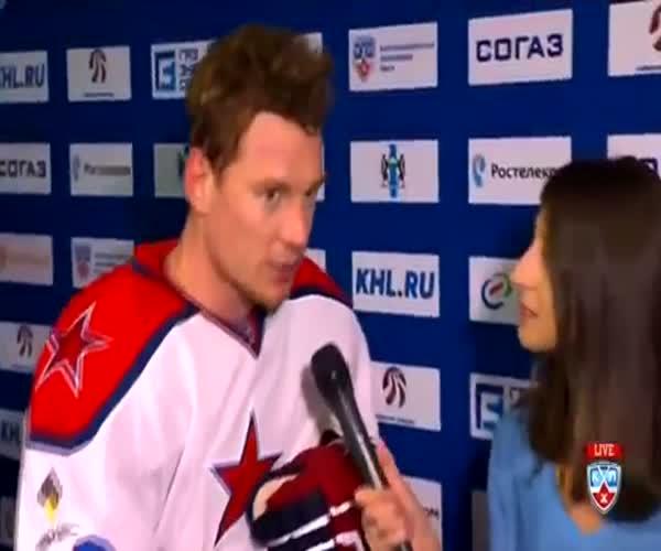 Смешная оговорка хоккеиста Дмитрия Кугрышева