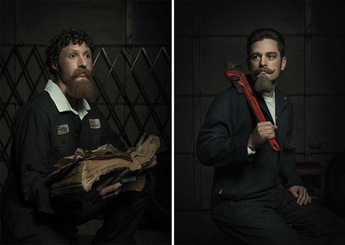 Картины эпохи Возрождения в автомастерской (6 фото)
