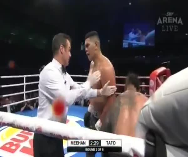 Боксер Уиллис Мехен «наехал» на судью