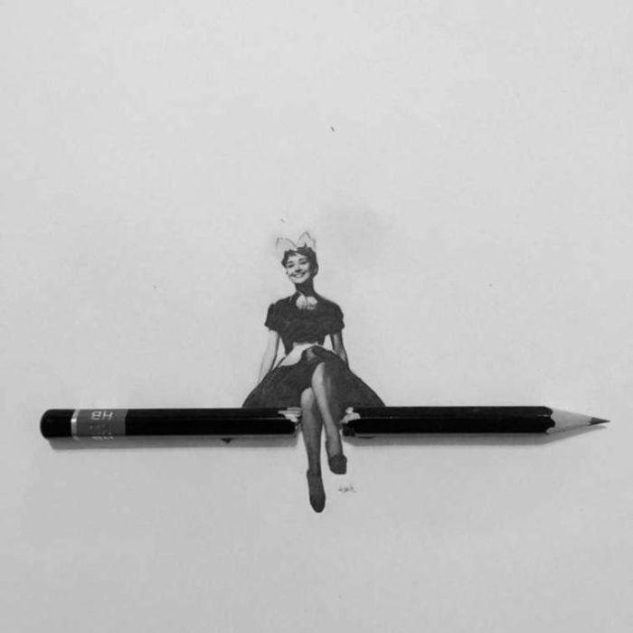 Миниатюрные рисунки Ашиша Пателя, которые умещаются на простом карандаше (20 рисунков)